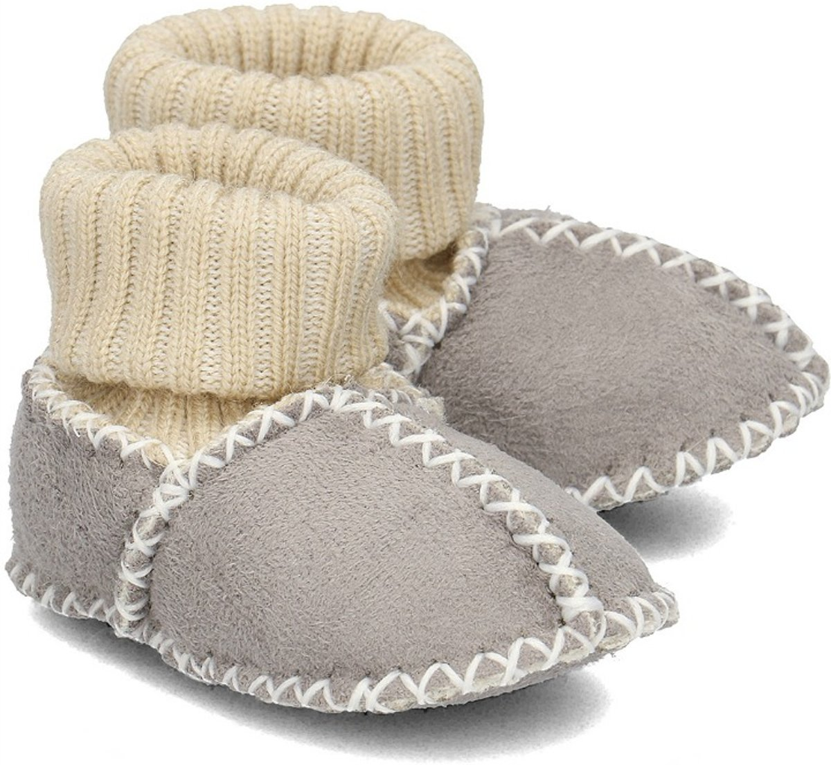 Playshoes babyslofjes band grijs kopen