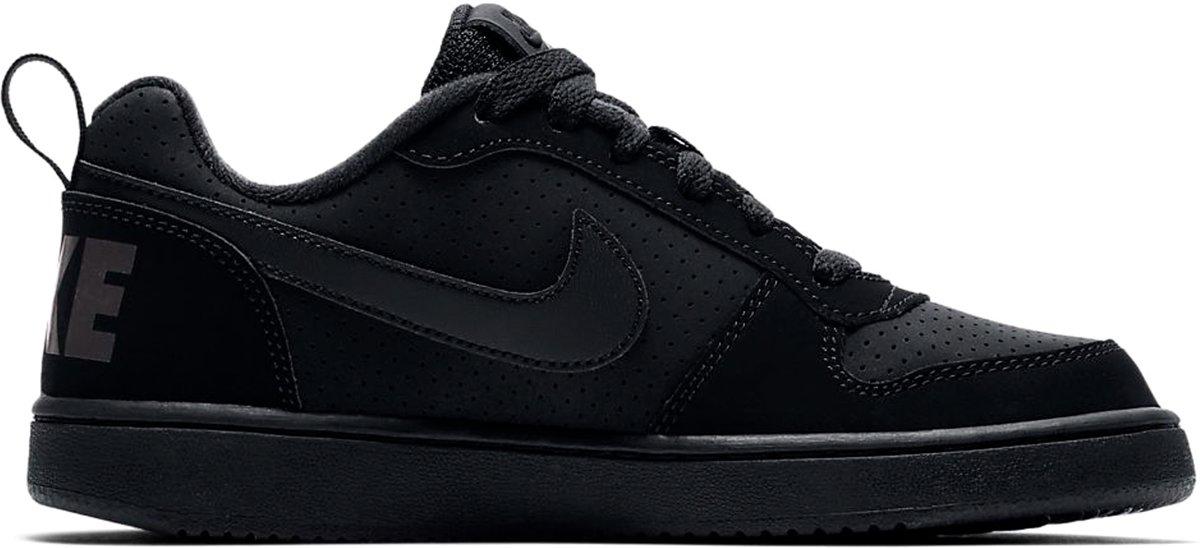 d07a91a1aaf bol.com | Nike Court Borough Low BG Sneakers Kinderen - Black/Black-Black