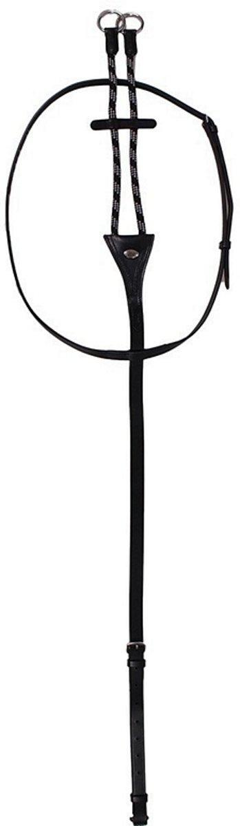 QHP Martingaal met koord - Black - Cob kopen