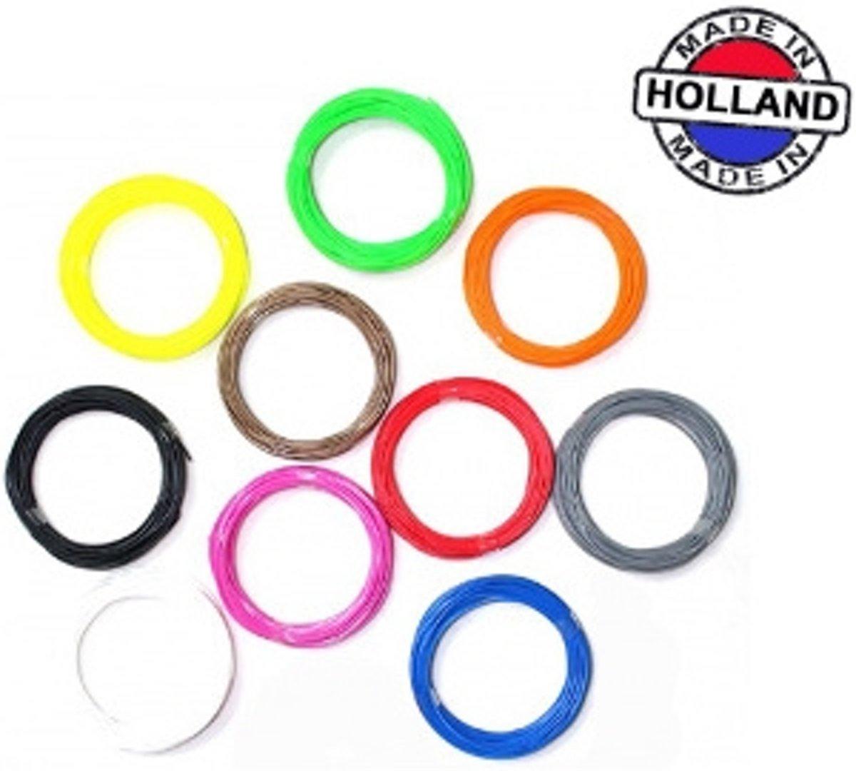3D pen filament pakket 10 kleuren PLA