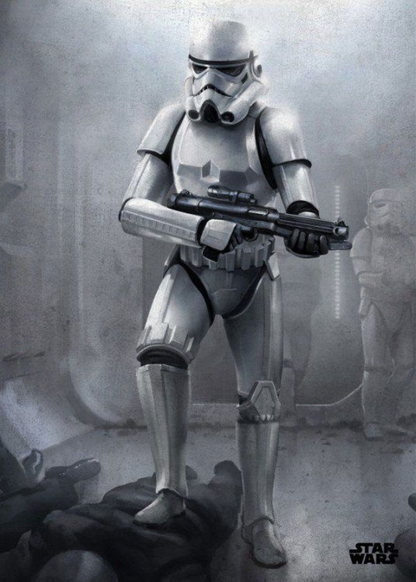 Displate Star Wars metal poster 10x14cm - Stormtrooper Episode IV (9999 ex.) kopen