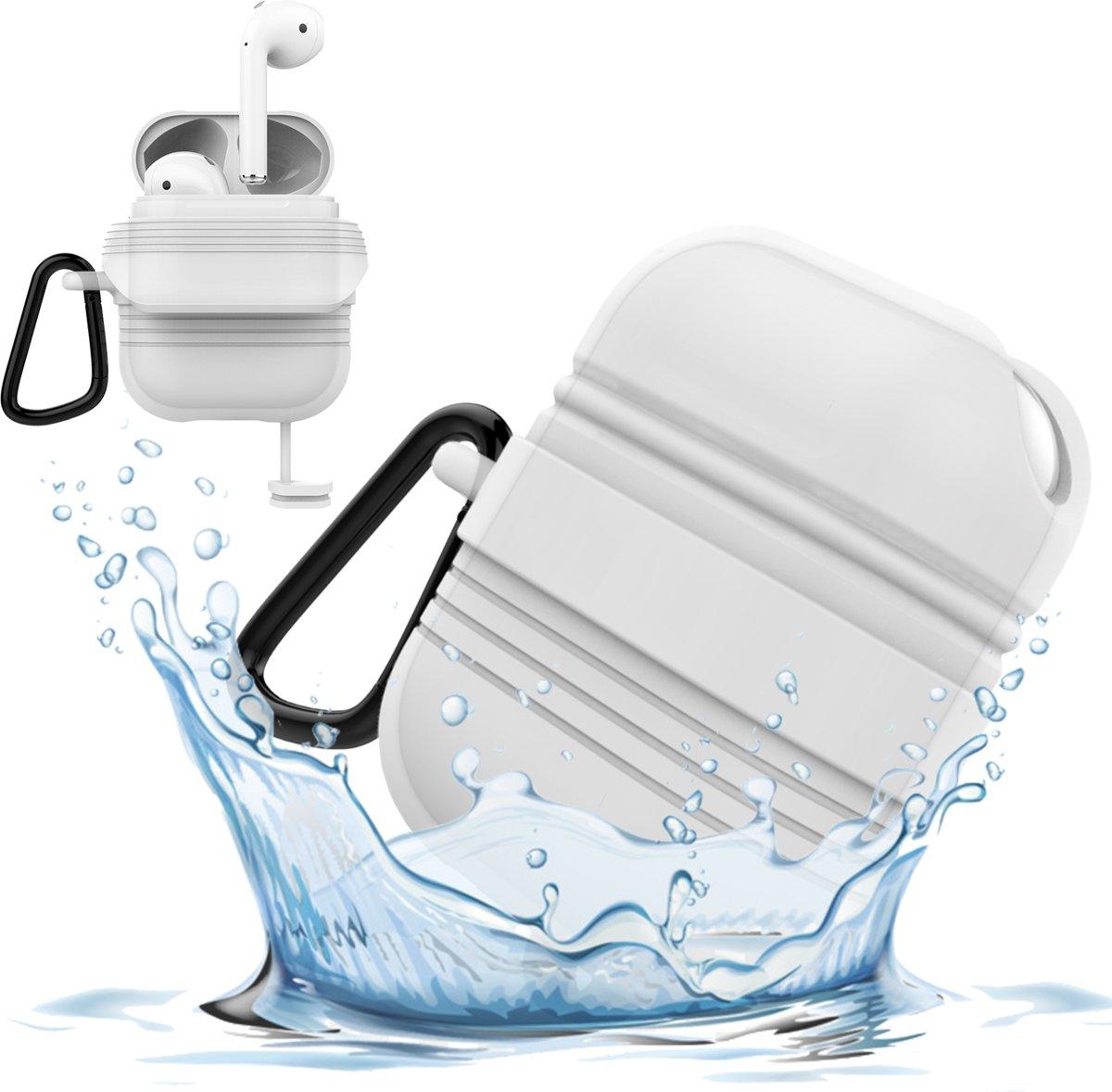 Airpods Hoesje voor Apple Airpods 1 / 2 - Waterdichte Case van iCall - Wit kopen