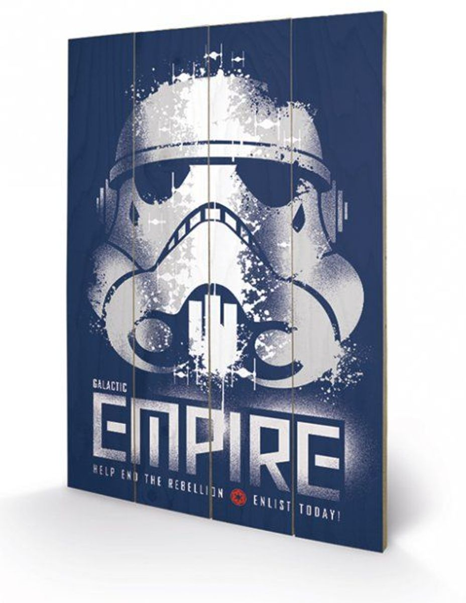 Merchandising STAR WARS - Printing on wood 40X59 - Rebel Enlist kopen