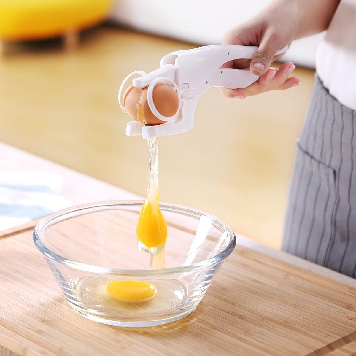 Egg Cracker - Ei Breker met Scheid functie - Scheid Eigeel en Eiwit - Breek uw Eieren Zonder Geknoei kopen