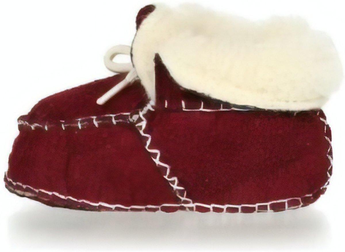 Playshoes babyslofjes veters rood kopen
