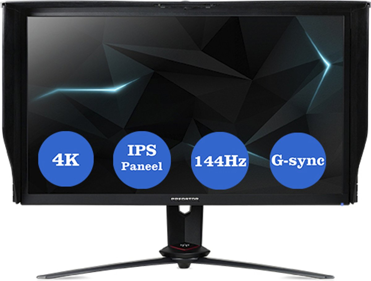 Acer XB273KPbmiphzx LED display 68,6 cm (27'') 4K Ultra HD Flat Mat Zwart