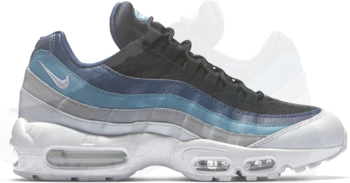 | Nike Air Max 95 Essential 749766 026 Blauw Grijs