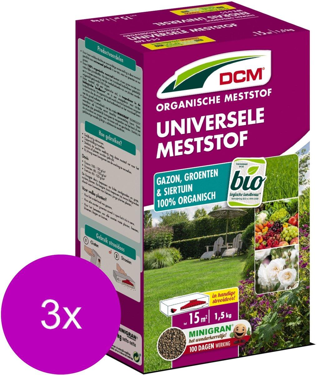 Dcm Meststof Universeel - Siertuinmeststoffen - 3 x 1.5 kg