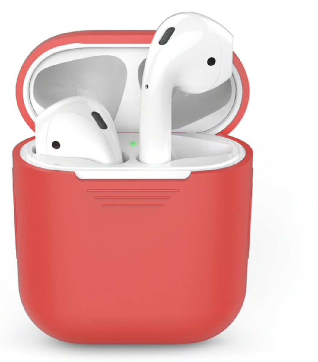 Airpods Silicone Case Cover Hoesje voor Apple Airpods - Rood kopen