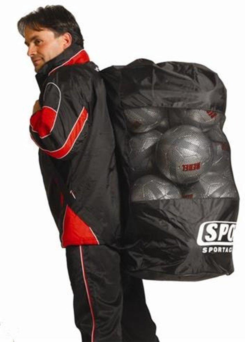 Sportec Ballenrugzak Zwart Geschikt Voor 15 Ballen kopen