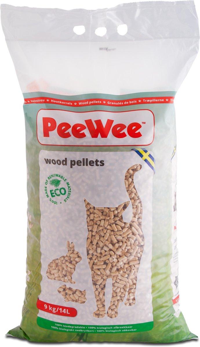 PeeWee Houtkorrels - Kattenbakvulling - 9kg kopen
