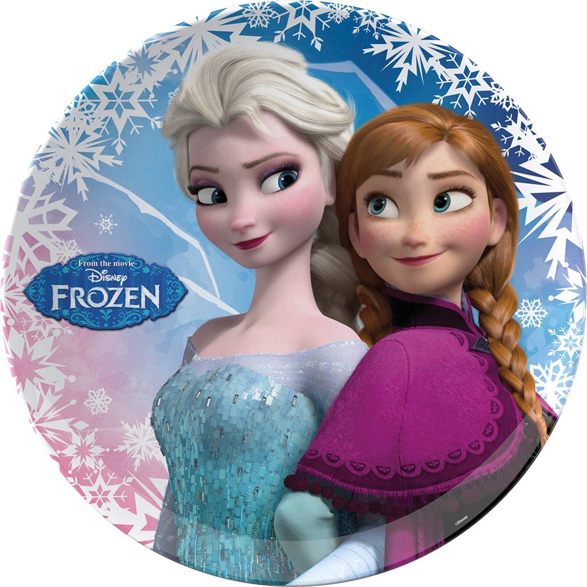 Frozen Melamine Bord Plat 22cm kopen