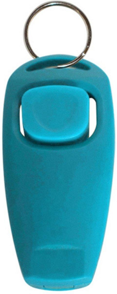 Turquoise hondenfluitje en clicker in een - NBH® kopen