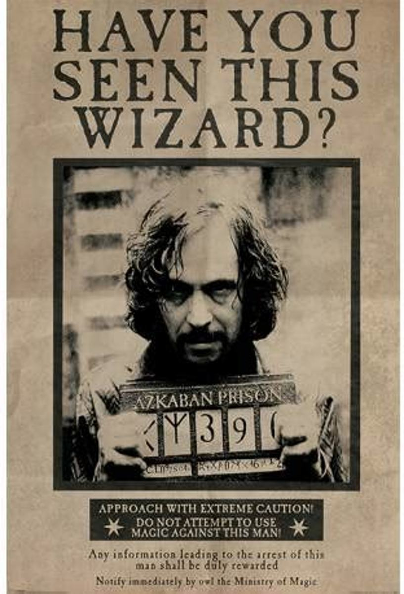 Maxi Poster Harry Potter Wanted Sirius Black 61cm x 91.50cm kopen