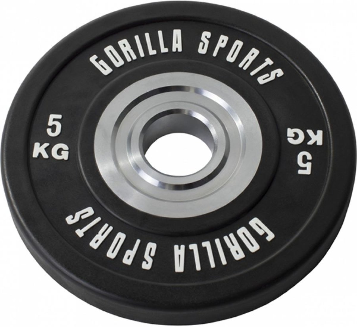 Gorilla Sports Bumper Plate 5 kg Gietijzer met rubber coating kopen