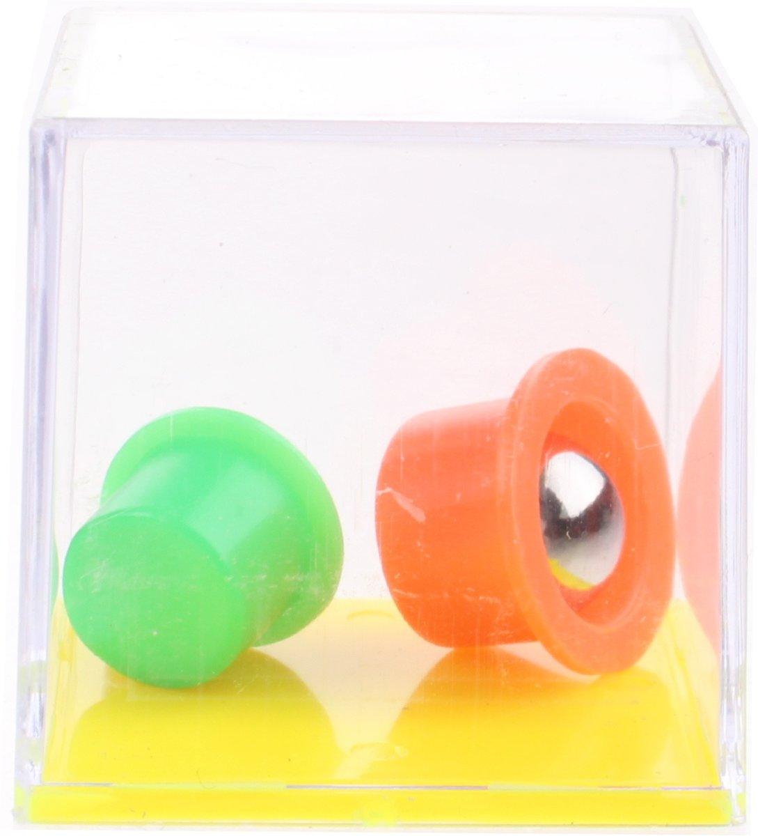 Lg-imports Geduldspel In Kubus Hoedjes Geel/oranje/groen kopen