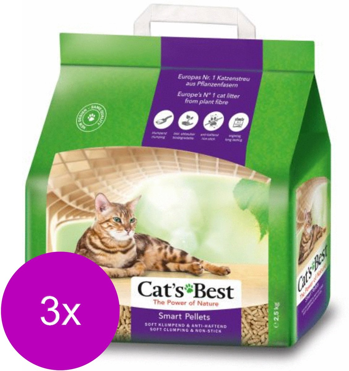 Cat's Best Smart Pallets - Kattenbakvulling - 3 x 5 l kopen
