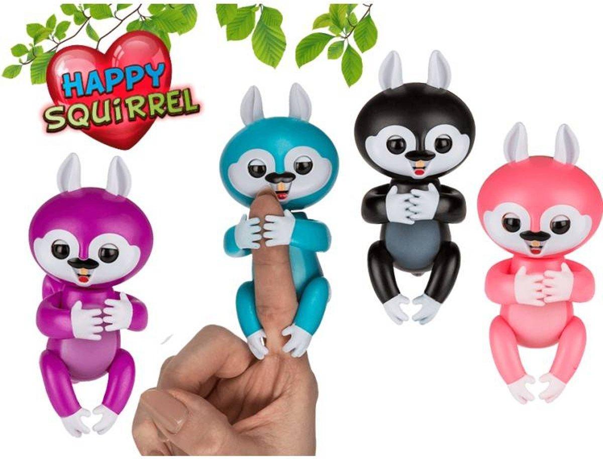 Interactieve Happy Squirrel / Baby Eekhoorn, Vinger speelgoed