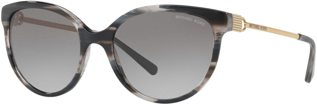 Michael Kors Abi Black Horn Zonnebril 0MK2052 328911 55 - Zwart kopen