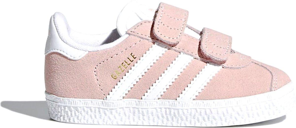 adidas Gazelle CF I Sneakers - Maat 23 - Meisjes - licht roze/wit