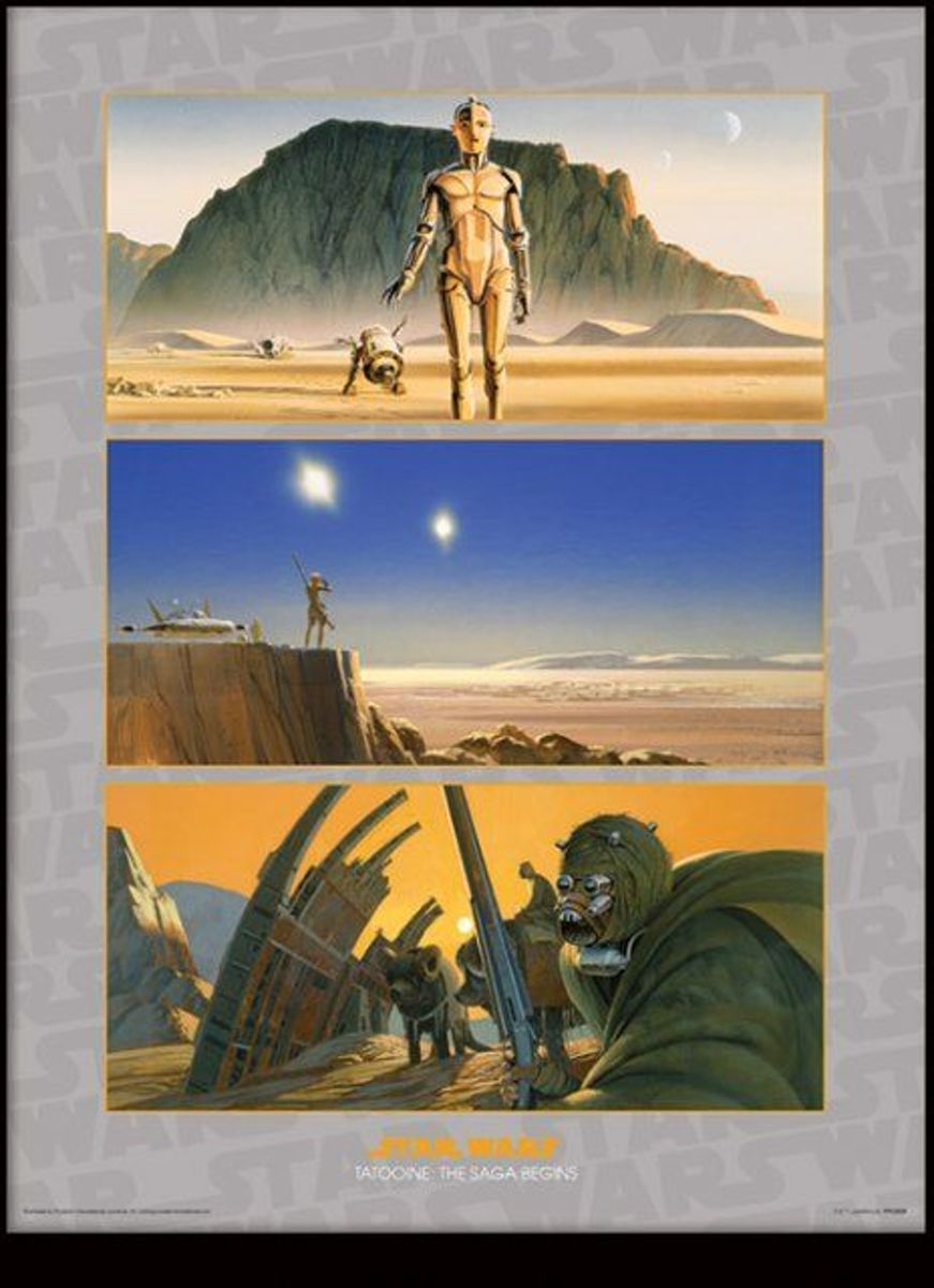 STAR WARS - Collector Print HQ 32X42 - Tatooine The Saga Begins kopen