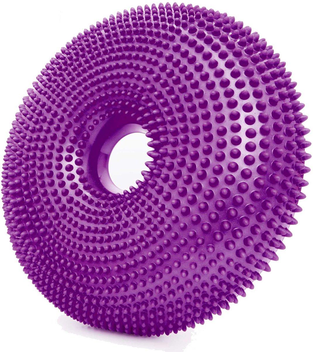 #DoYourFitness - Balanskussen - »Donut« - zitkussen, met gat in het midden, fitness, pilates, fysiotherapie - (140kg Maximumgewicht) Diameter 33cm. - krokuslila kopen