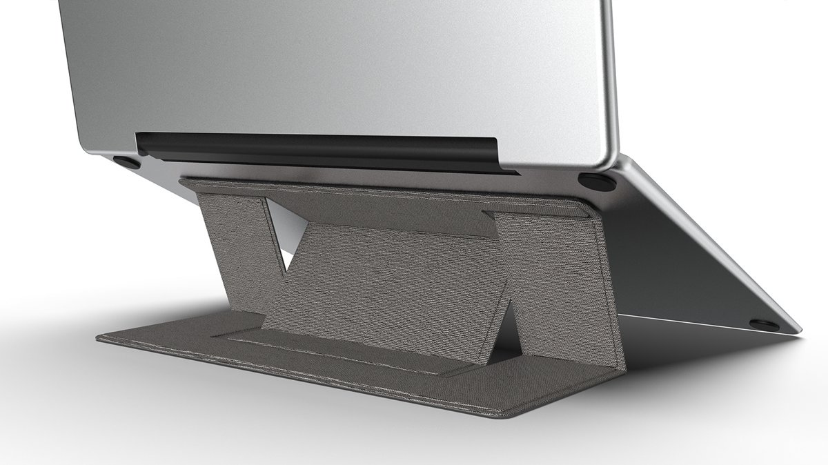 Macbook / Laptop Standaard - Zelfklevend opvouwbare laptop standaard - Grijs kopen