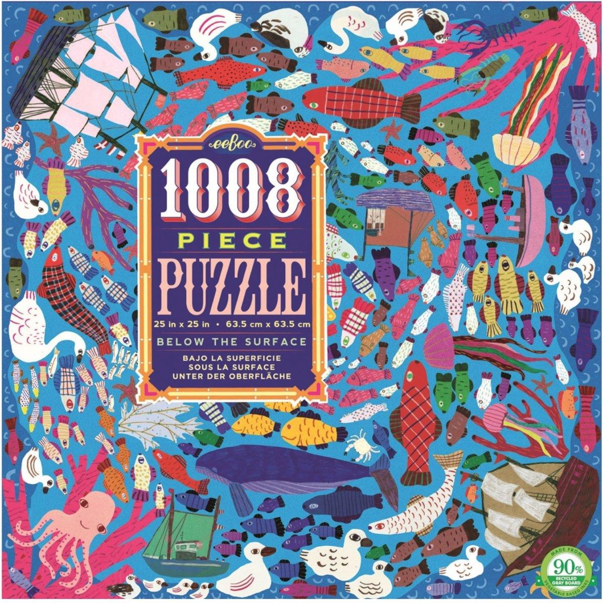 Eeboo puzzel onderwaterwereld 1008 delig kopen
