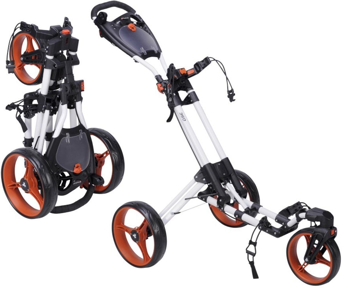 FastFold - 360 golftrolley - wit/oranje kopen
