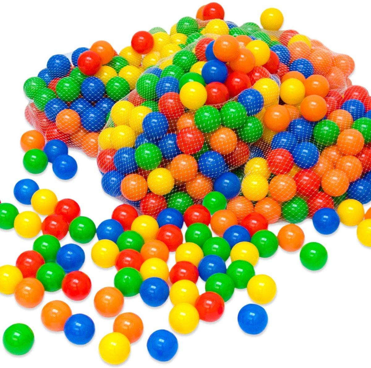 500 Kleurrijke ballenbadballen 5,5cm   plastic ballen kinderballen babyballen   kinderen baby puppy