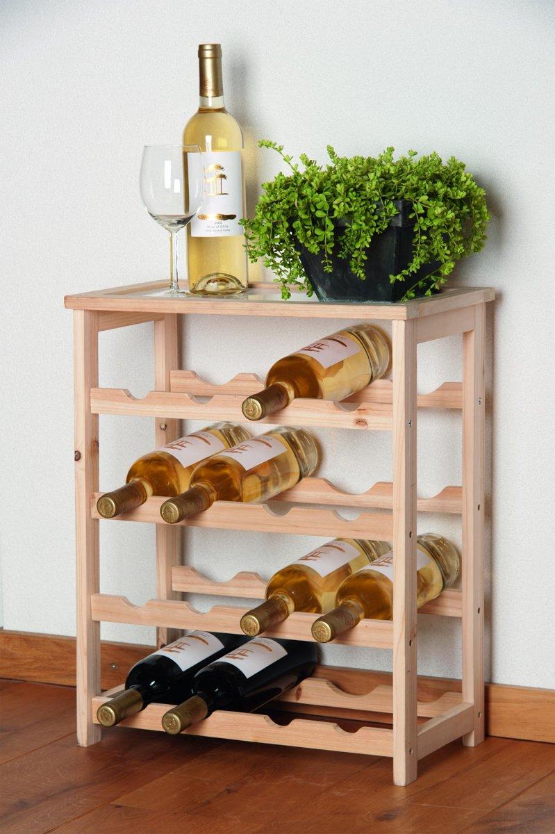 Wijnrek Hout Voor 16 Flessen