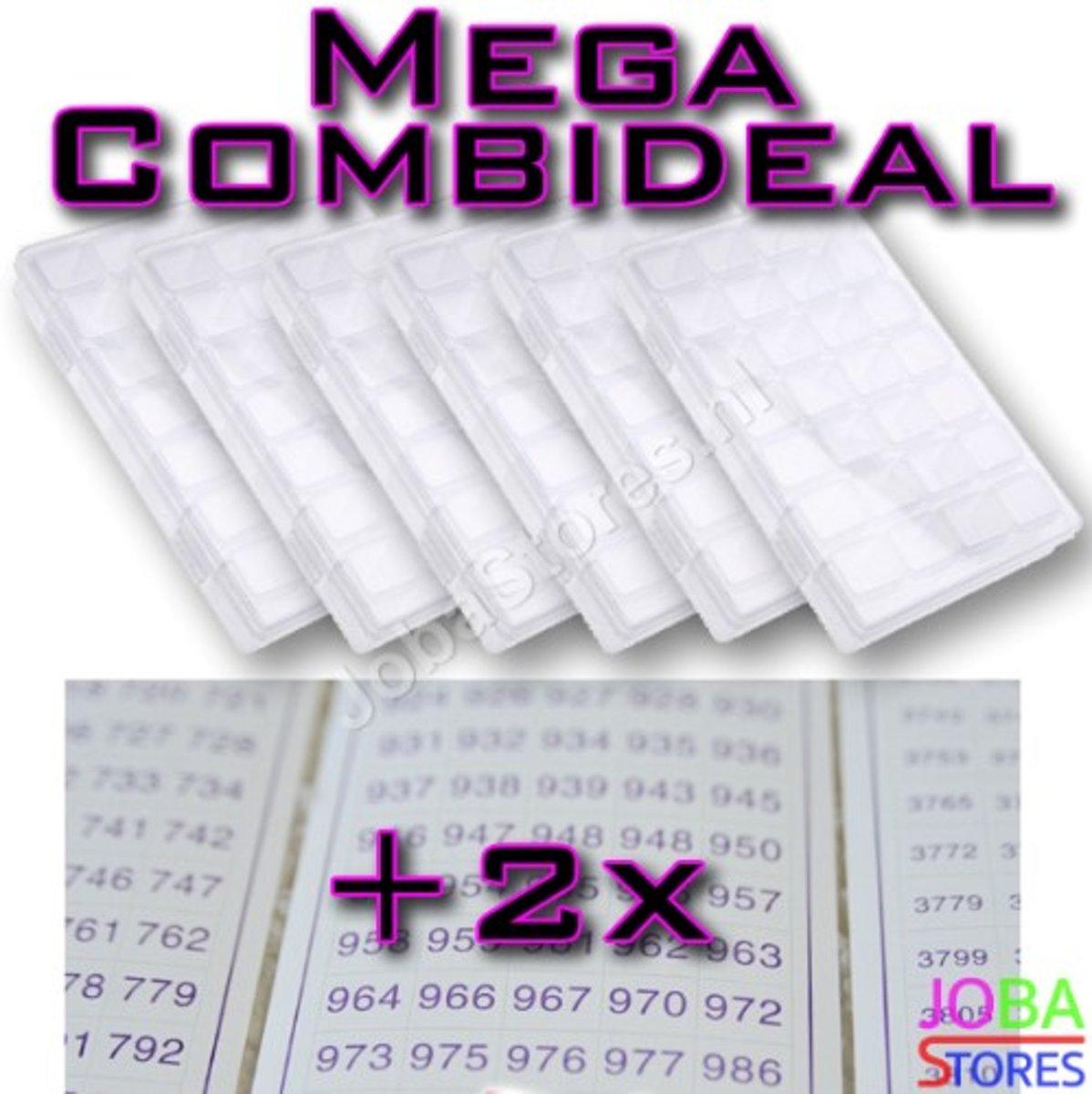 """Diamond Painting """"JobaStores®"""" Sorteerdoos Mega Combideal 28 slots (6 stuks + 2x DMC stickers) kopen"""
