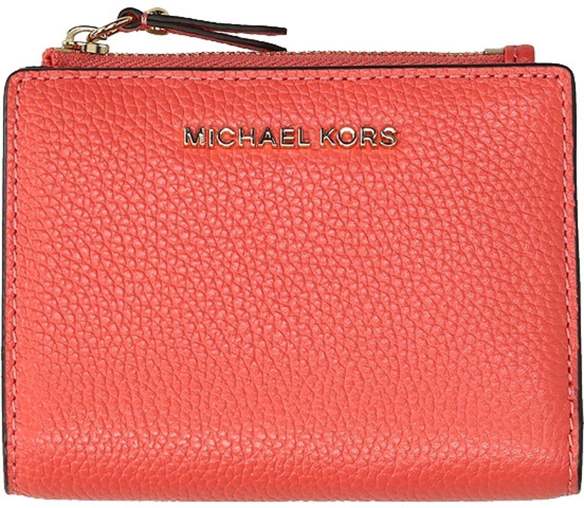 Michael Kors Jet Set Snap portemonnee grapefruit