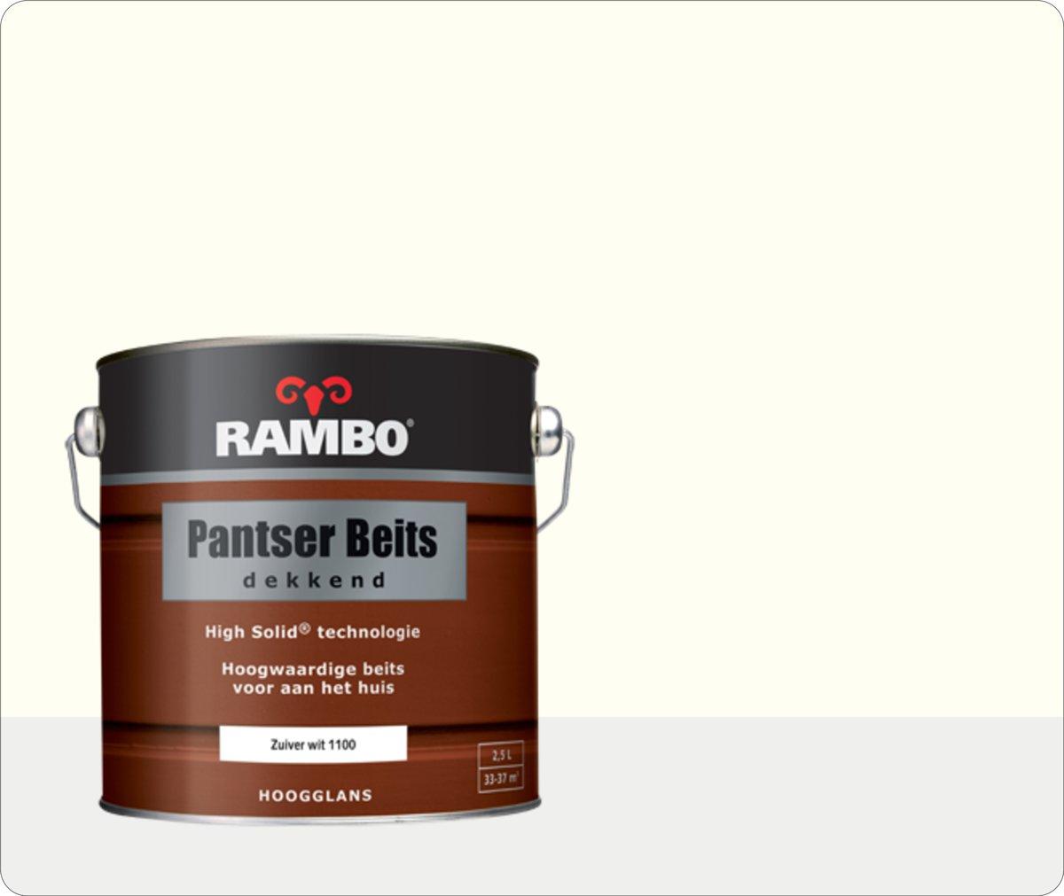 Rambo Pantser Beits Dekkend - 2,5 liter - Zuiverwit