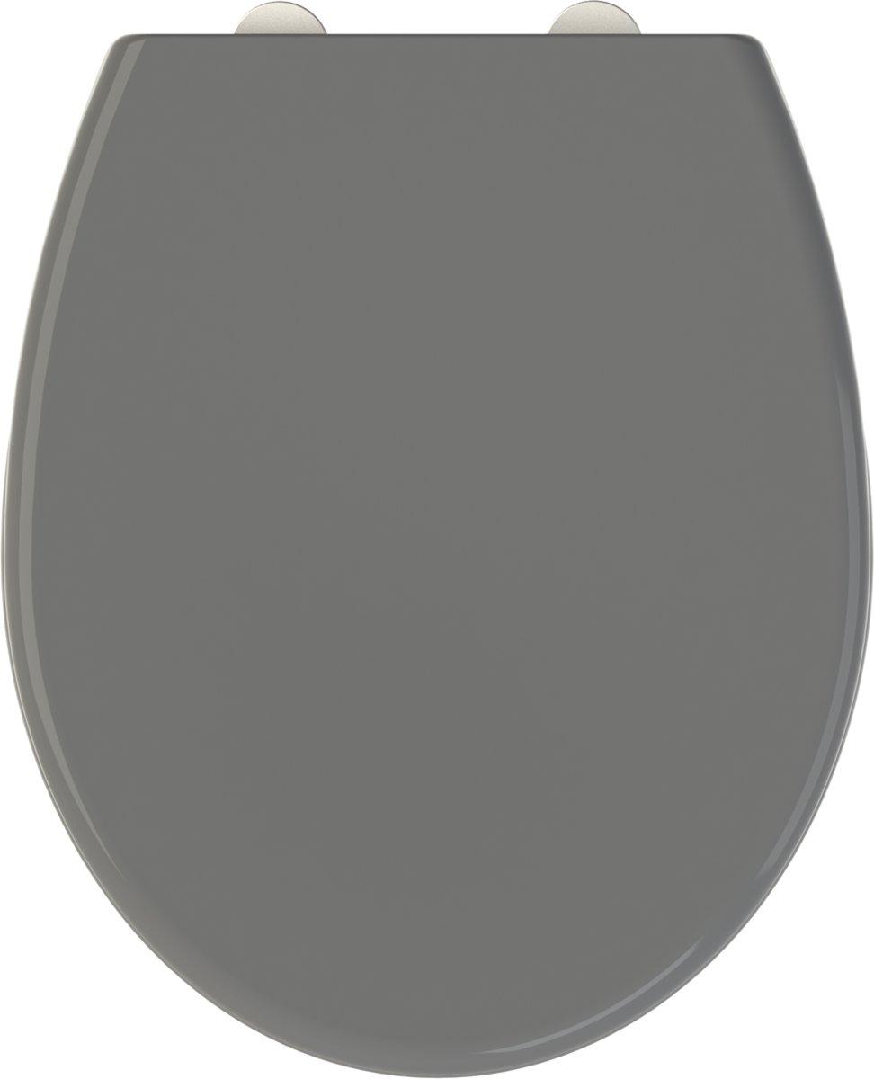 Allibert wc-bril FALLY - thermodure - soft close - afklikbaar -antibacterieel - anthraciet grijs kopen