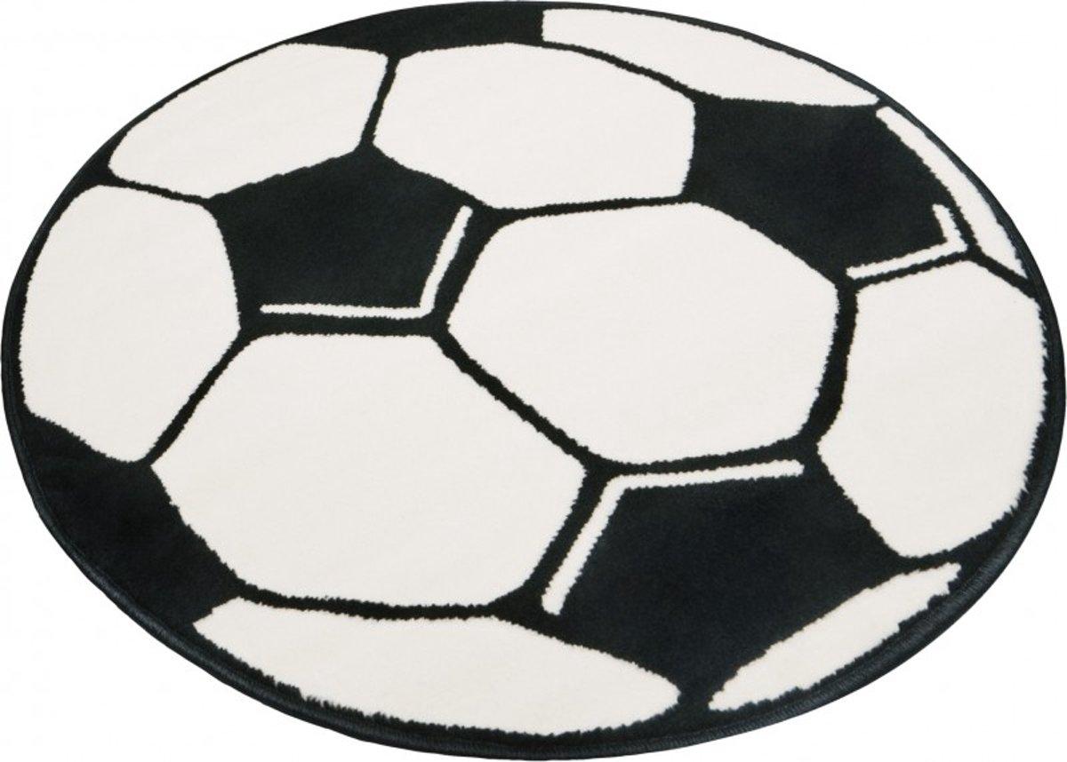Wonderbaar bol.com | Rond vloerkleed Voetbal - zwart/wit 100 cm rond ET-95