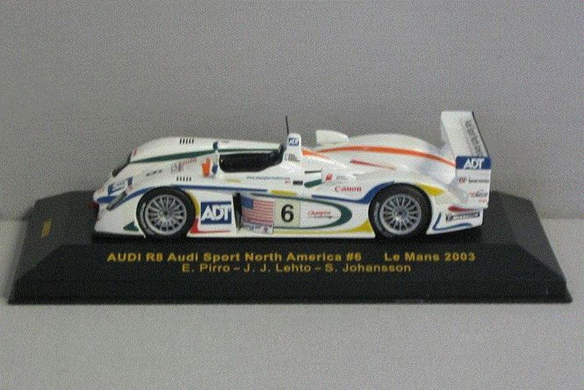 Audi R8 Audi Sport North America #6 Le Mans 2003  1:43 IXO Models Wit LMM050