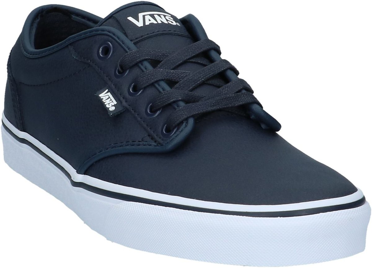 Camionnettes - Atwood - Patin Bas - Hommes - Taille 46 - Bleu - Vmq - (cuir) Nuit Parisian / Blanc Awdcy