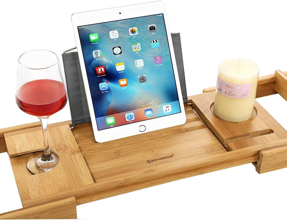 Bad Tafel Hout : Bol hq badrek bad tafel plank badplank rek verstelbaar