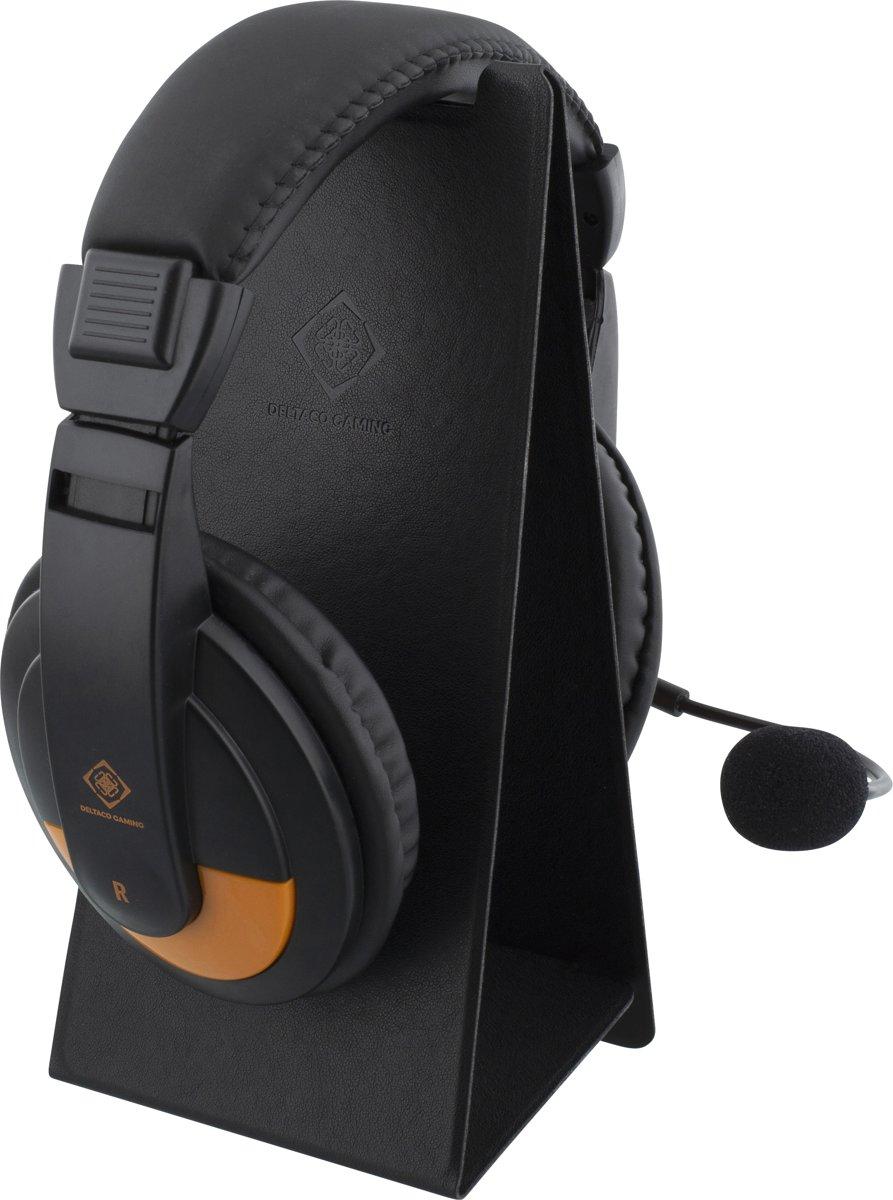 DELTACO GAMING GAM-048 Headset Houder, Universeel, Opklapbaar, PU-leer, Koptelefoon houder kopen