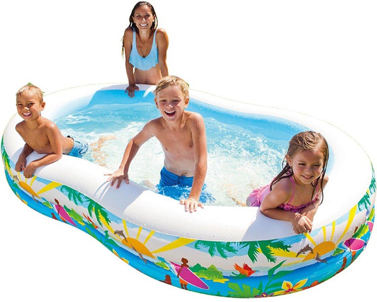 Intex Kinderzwembad Opblaasbaar Paradise 262 X 160 X 46 Cm