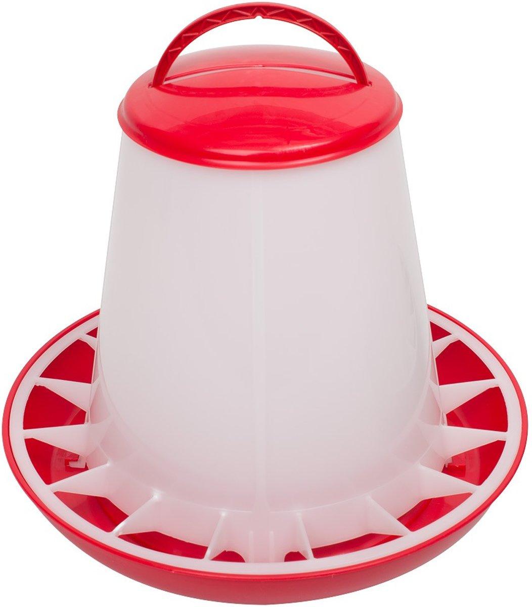 Kunststof voersilo 3kg met deksel rood kopen