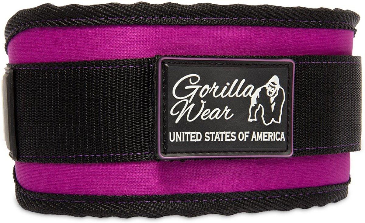 Women's Lifting Belt Zwart / Paars - L kopen
