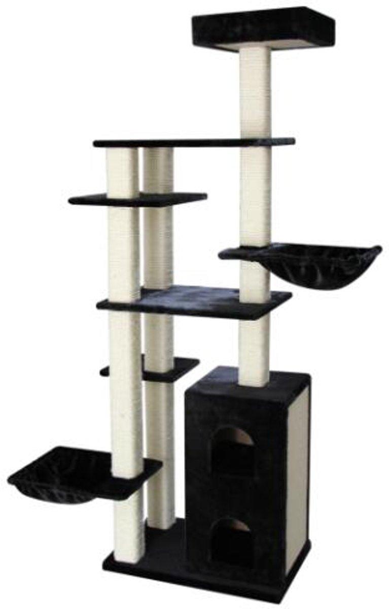 Topmast Heavy Krabpaal Excellence Zwart voor Grote Katten 75 * 50 * 217 cm