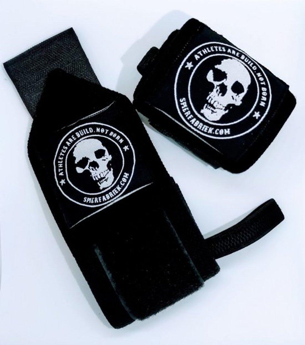 pols wraps - pols straps - wrist wraps basic - bodybuilding wraps - fitness wraps - wrist wraps - mr. merc pro (1 paar - zwart) kopen