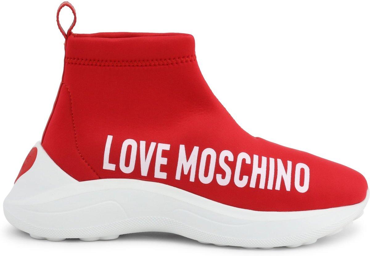 love moschino korte laarzen rood
