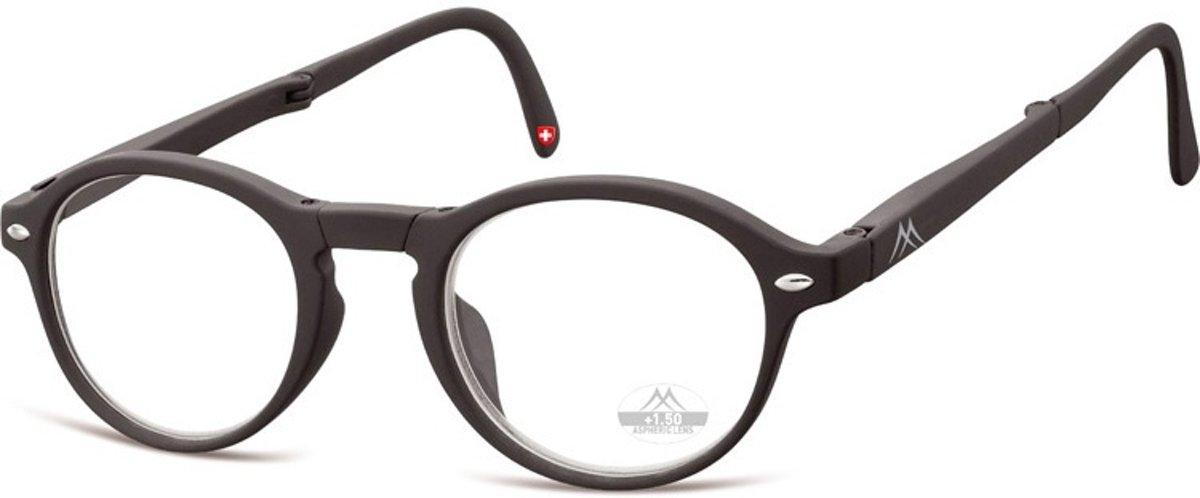 Montana Opvouwbare Leesbril Zwart Sterkte +3,00 (box66) kopen