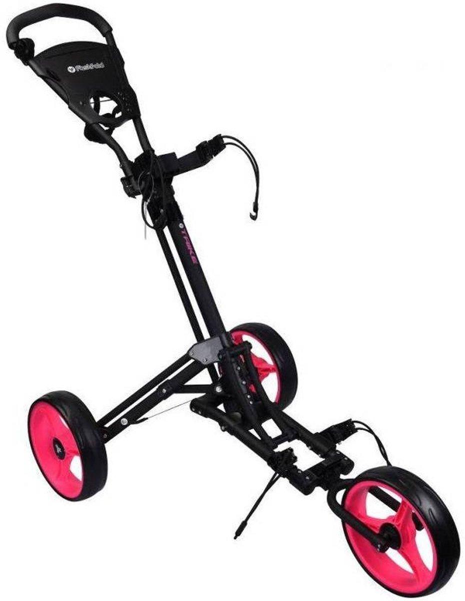 Fastfold Trike Golftrolley Black/Pink kopen
