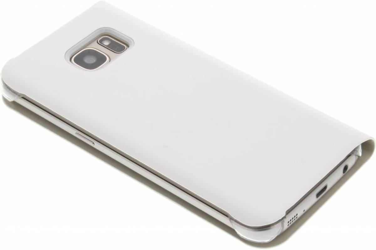 Luxe Blanc Cas Intelligent De Type Livre Pour Samsung Galaxy S7 H6BPVYz