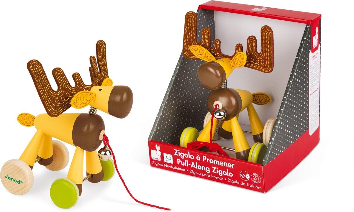 Houten Garage Janod : Bol janod zigolos trekfiguur eland janod speelgoed